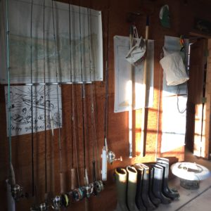 St. Croix Fishing Rods Stored in the barn